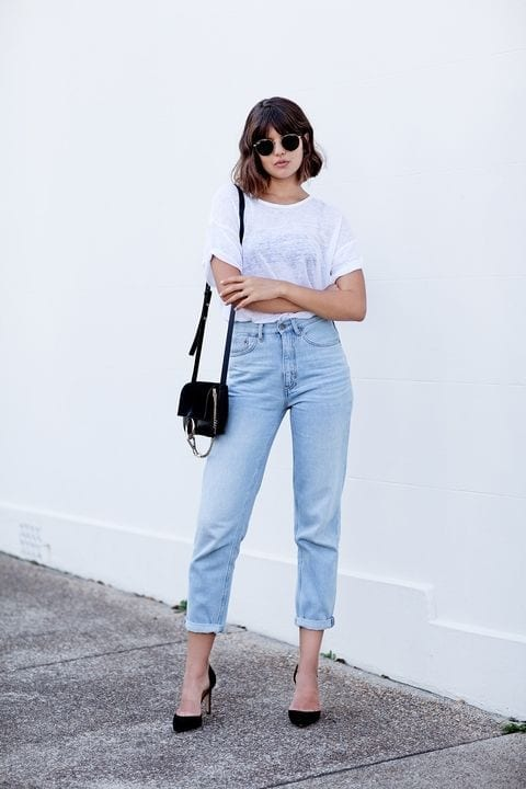 ways to style a classic white t-shirt