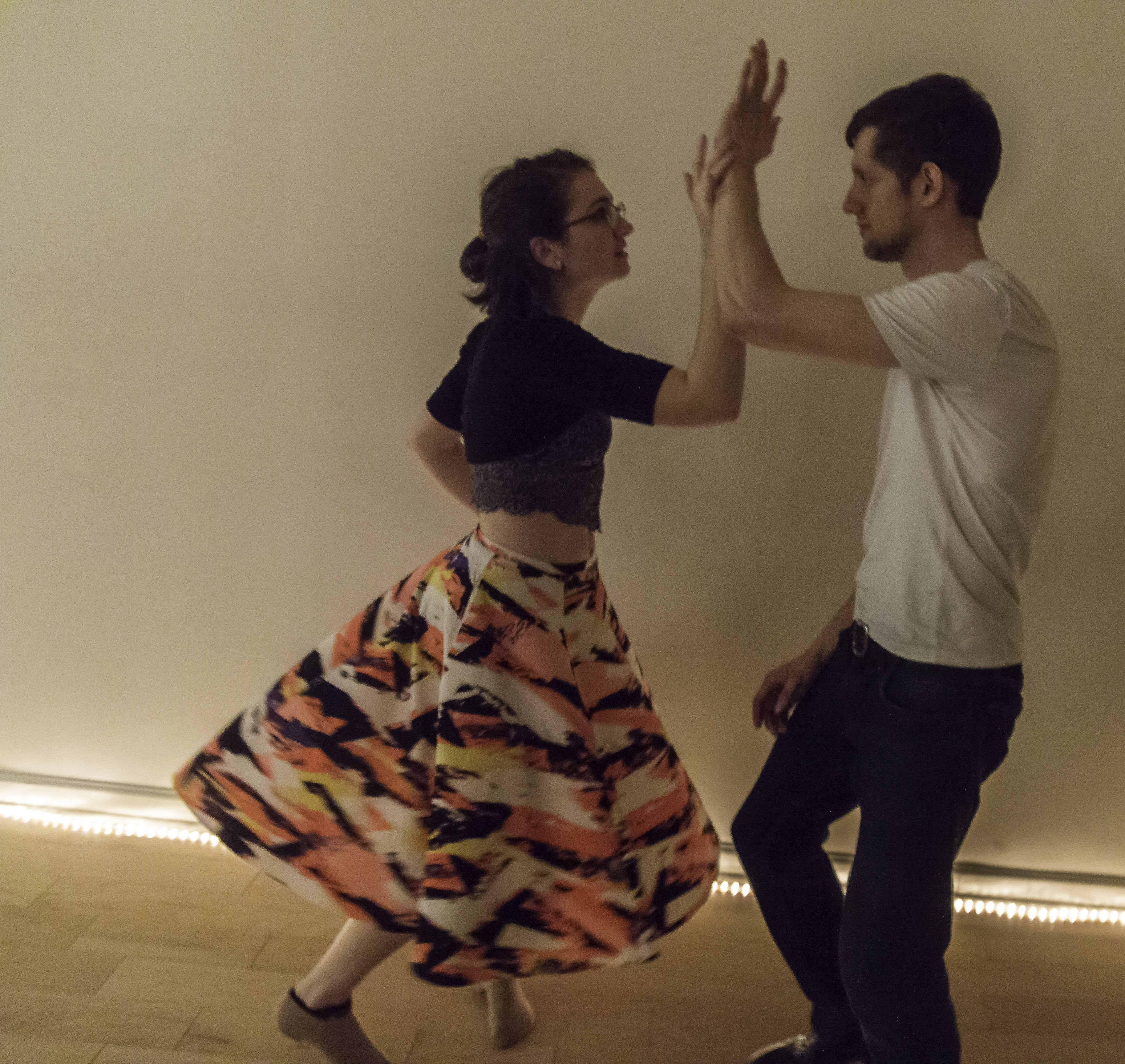 The anatomy of dance. Man and woman dancing